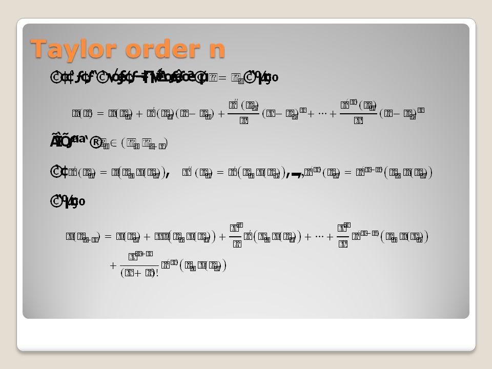Taylor order n