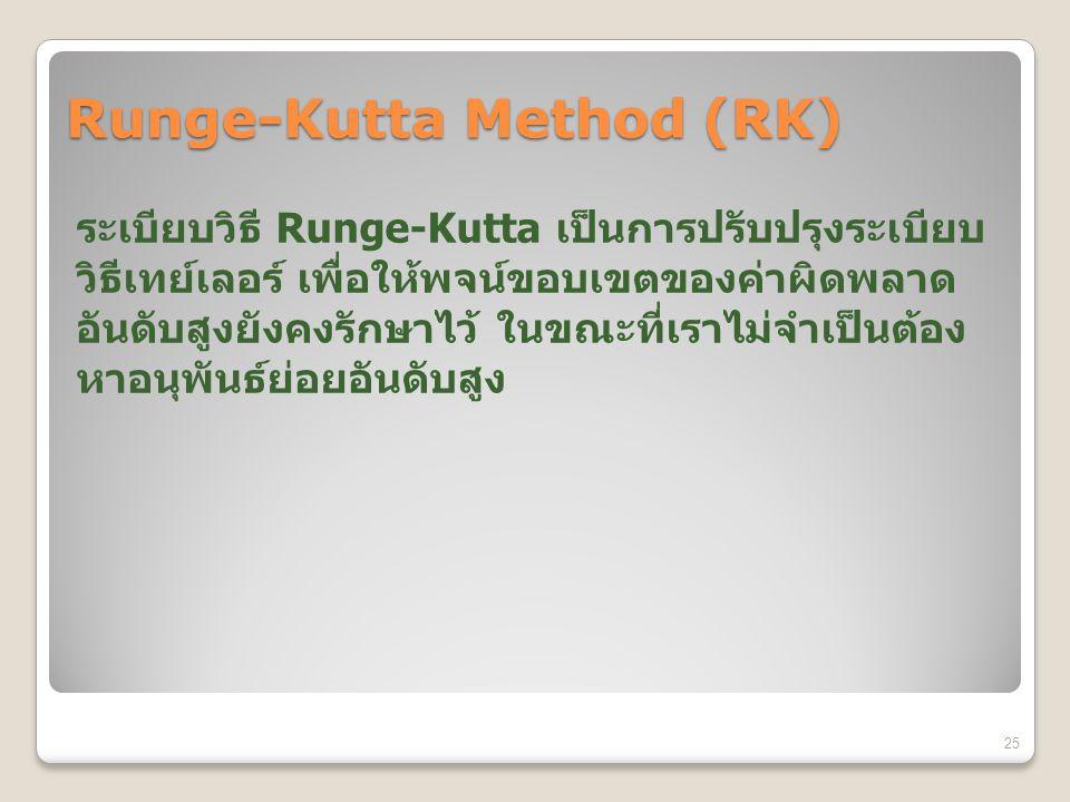 Runge-Kutta Method (RK) Runge-Kutta 25
