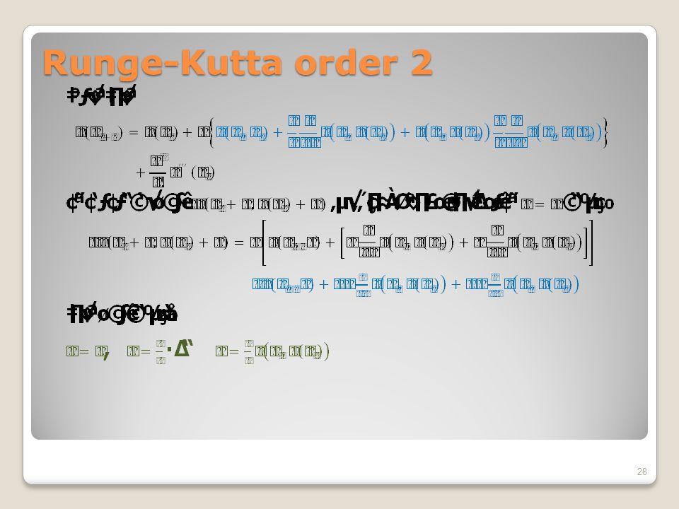 Runge-Kutta order 2 28
