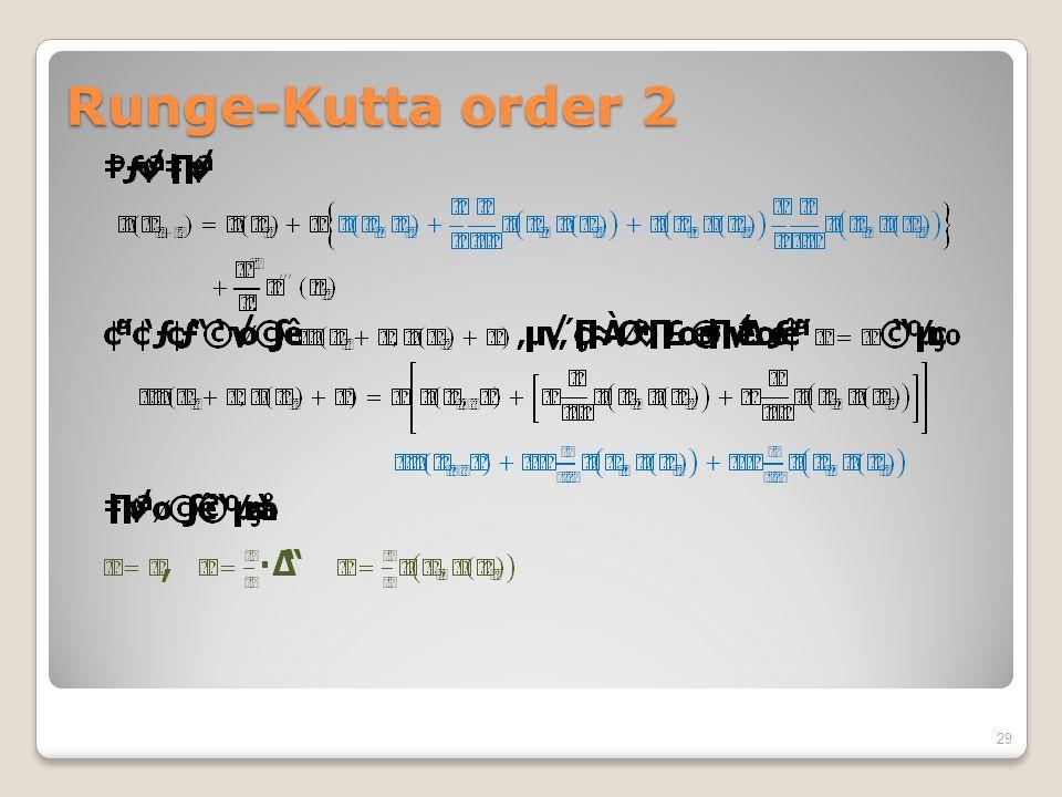 Runge-Kutta order 2 29