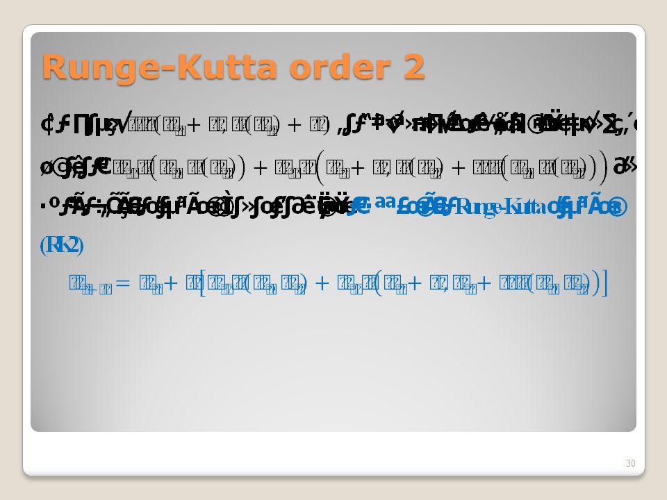 Runge-Kutta order 2 30