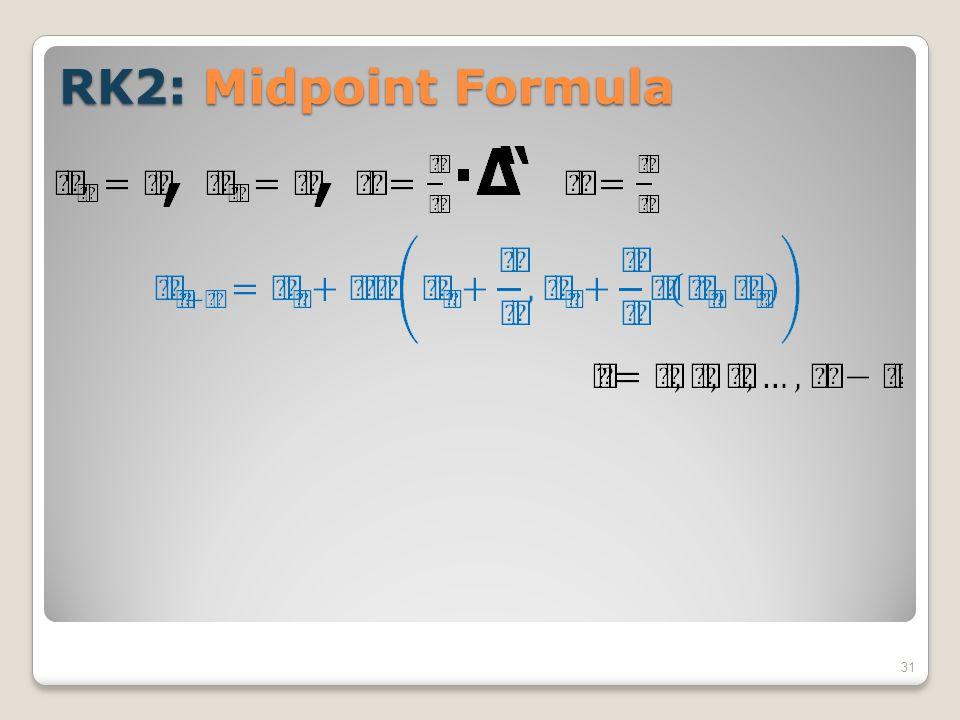 RK2: Midpoint Formula 31