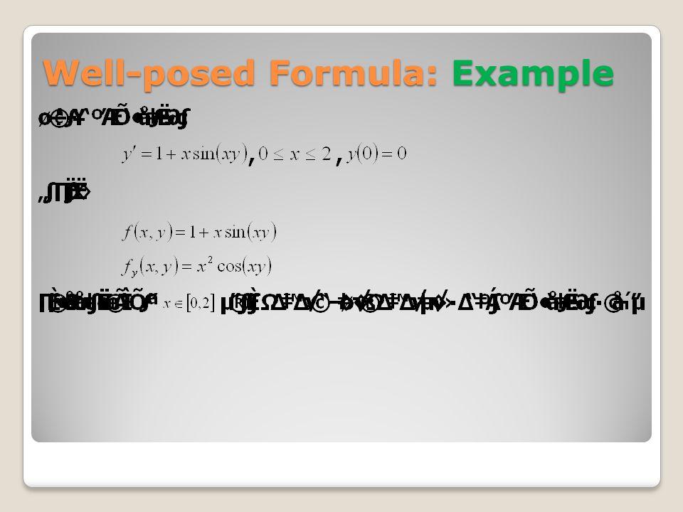 Taylor order n: Example