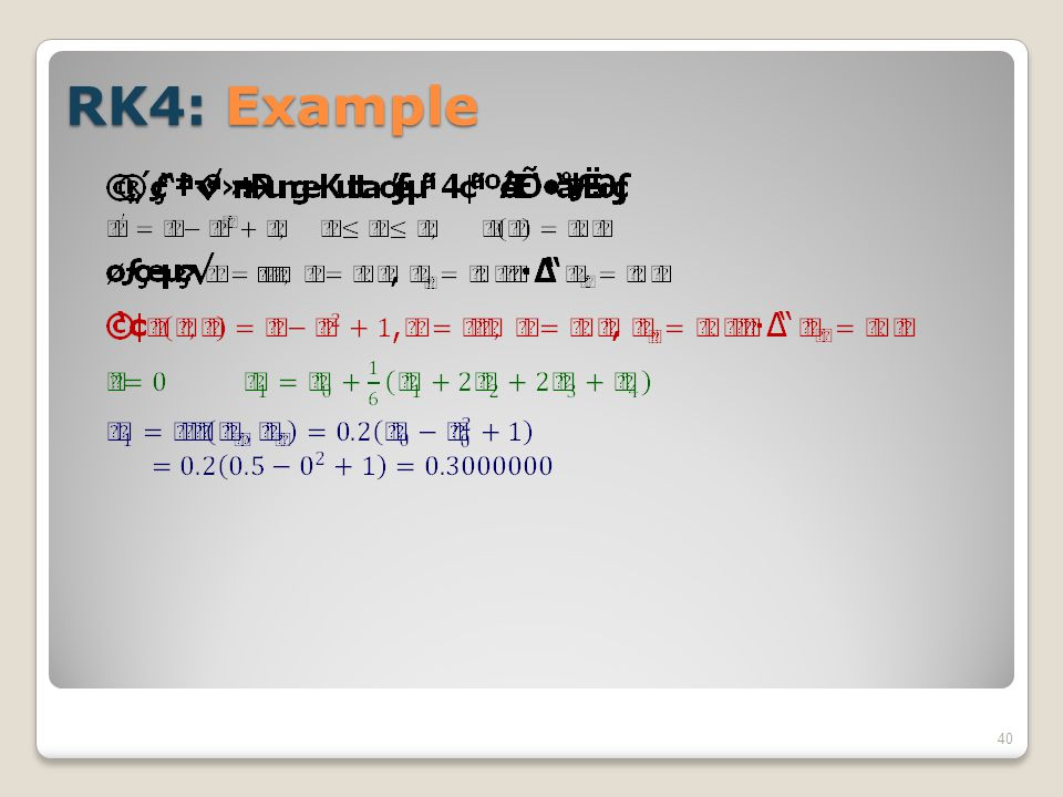 RK4: Example 40