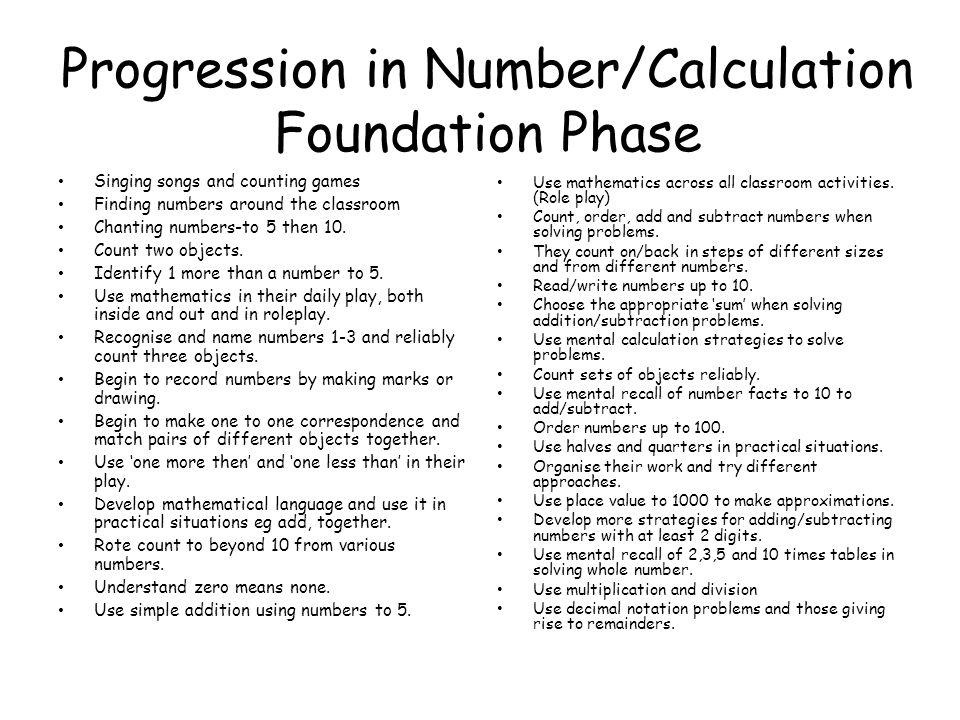 RANGE Develop an interest in number.
