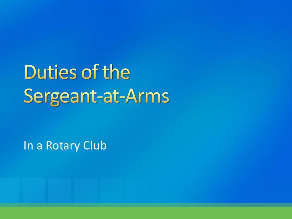 In a Rotary Club