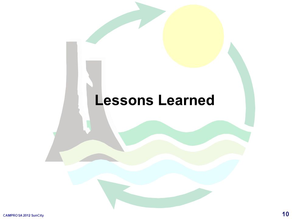 10 CAMPROSA 2012 SunCity Lessons Learned