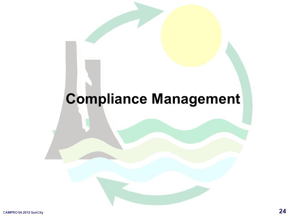 24 CAMPROSA 2012 SunCity Compliance Management