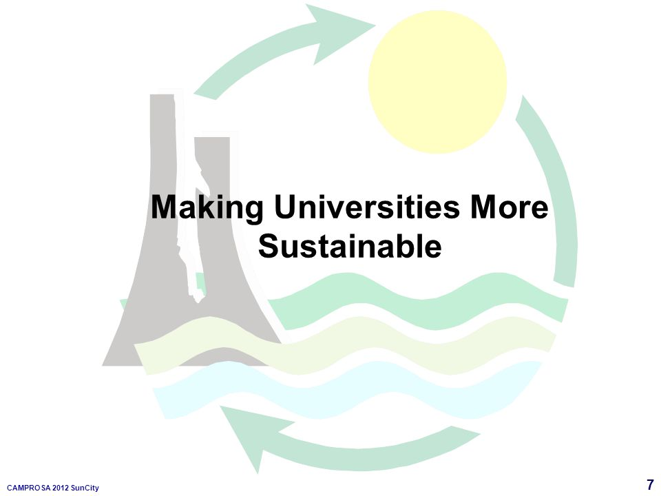 7 CAMPROSA 2012 SunCity Making Universities More Sustainable