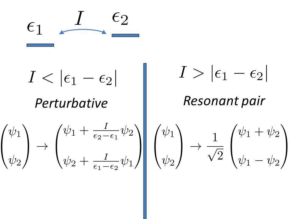 Perturbative Resonant pair