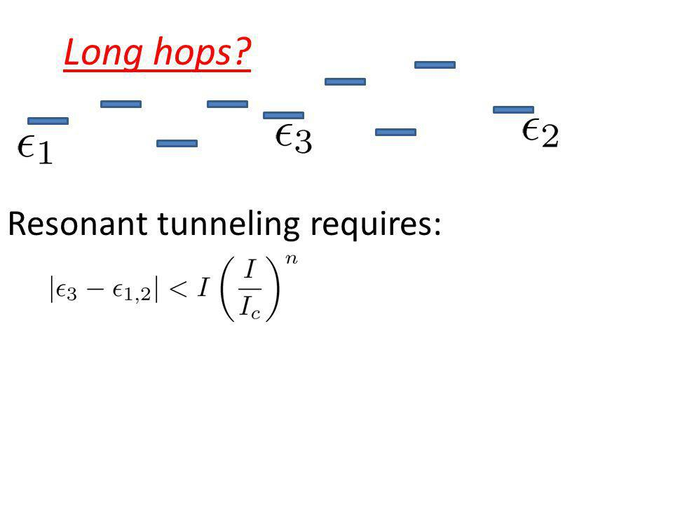 Long hops? Resonant tunneling requires: