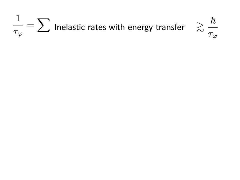 Inelastic rates with energy transfer