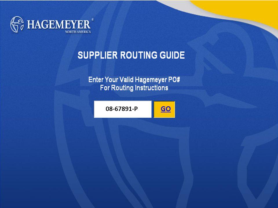 Hagemeyer The Transportation Specialists Group Login ID: Hagemeyer Password: Carrier Case Sensitive