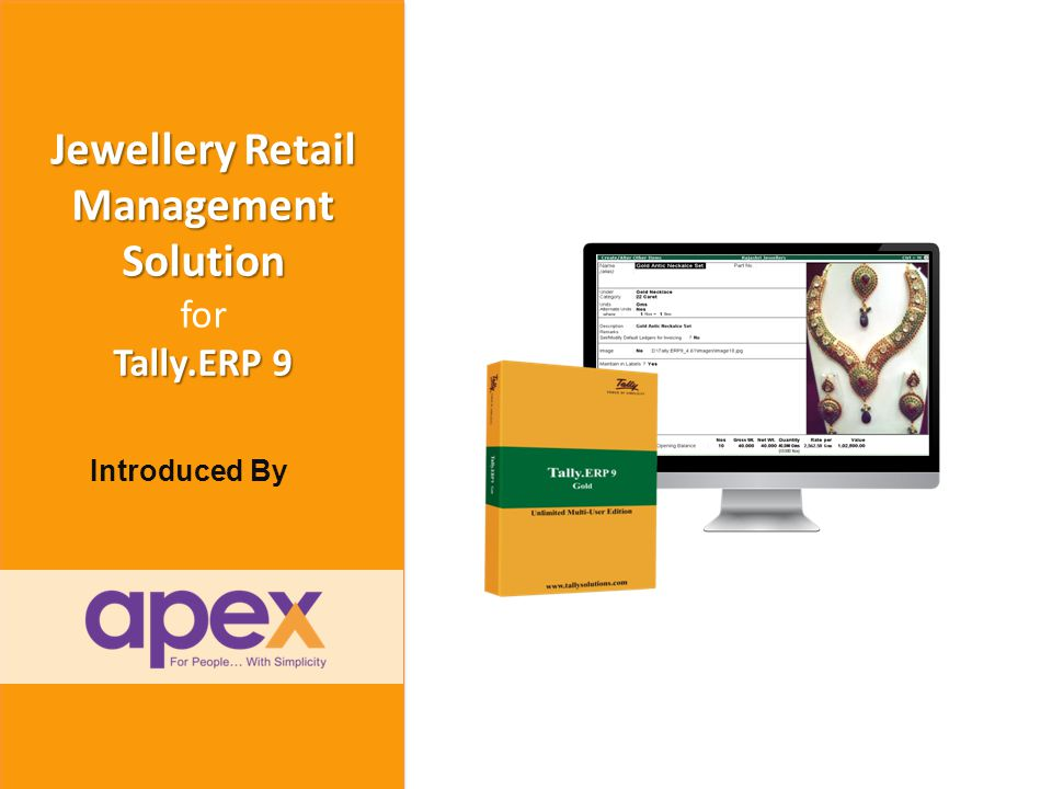 Welcome to Apex Family and The World of Tally + www.apexactsoft.com info@apexactsoft.com + + Together lets explore the beneficial ways of using Tally.ERP 9