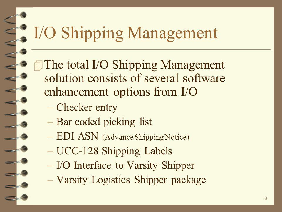 23 No Carton Detail – Key Exceptions Only The order is displayed, one line per line item on the order, with anticipated ship quantities as Actual The user may key the item number and actual quantity shipped, or......