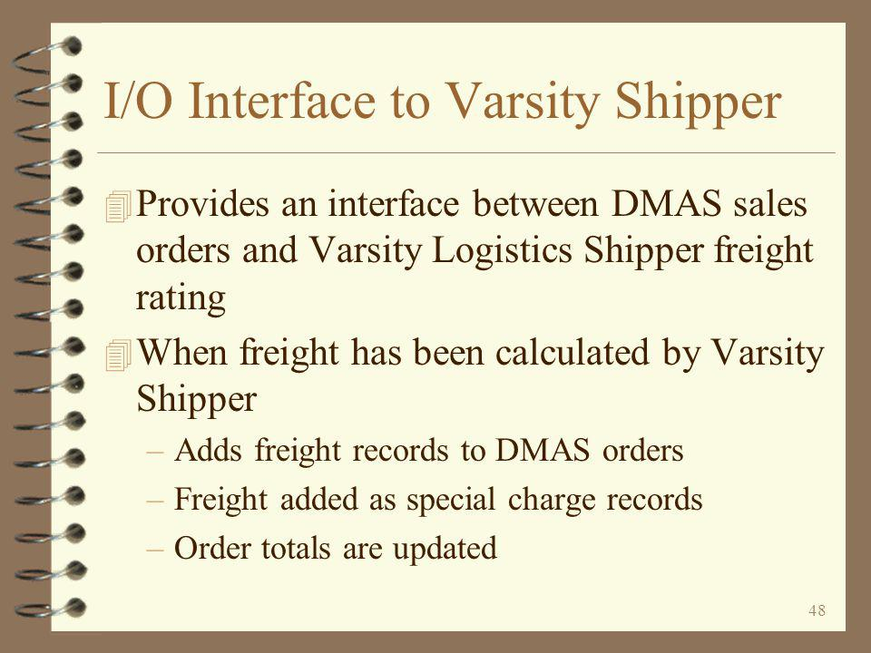 47 Advance Shipping Notices When taking the Send EDI advance shipping notices (856) menu option (when Varsity Shipper IS NOT installed), a prompt screen is presented An ASN selection may be made for a single shipment Return - End of topic The user may re-send, or send only those shipments not yet sent Selections may also be made for a single order, single customer/branch, single ship-to, and/or single company