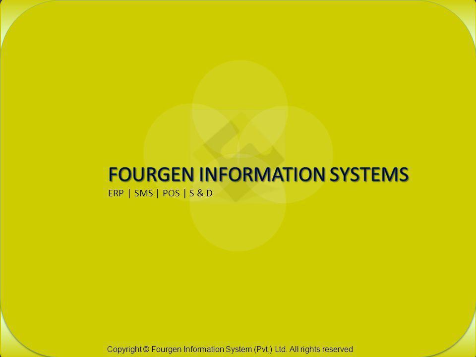 Fourgen Information System ERP | SMS | POS | S & D RESTAURANT