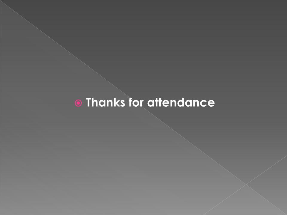 Thanks for attendance