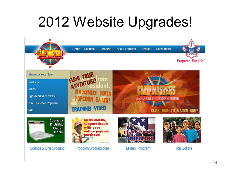 2012 Website Upgrades! 34