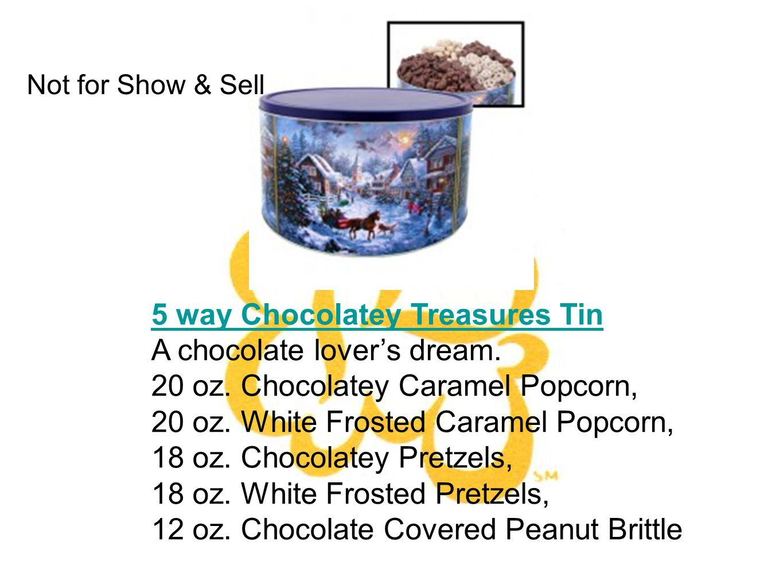 5 way Chocolatey Treasures Tin A chocolate lovers dream.