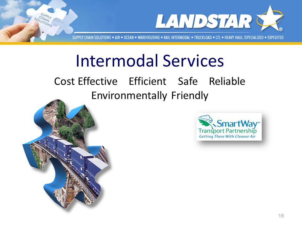 16 Intermodal Services Cost Effective Efficient Safe Reliable Environmentally Friendly