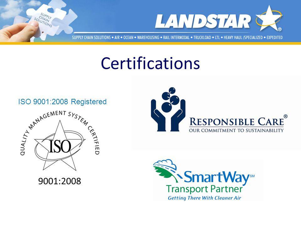 Certifications ISO 9001:2008 Registered 9001:2008