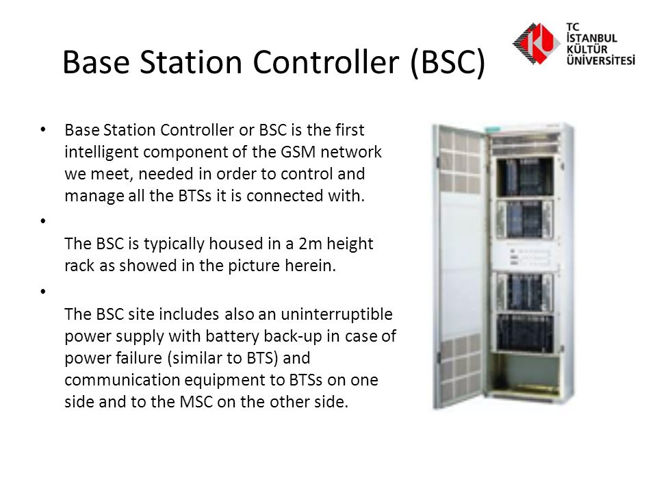 Mobile Switching Center (MSC) Mobile-service Switching Centre (MSC) is essentially an ISDN switch with significantly enhanced processing capability to cater for the special needs of GSM.