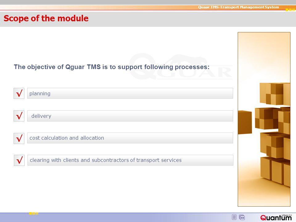 Quaar TMS-Transport Management System banner