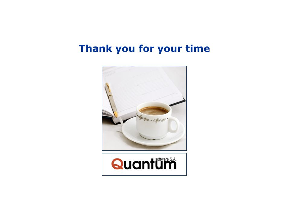 Quaar TMS-Transport Management System Thank you for your time