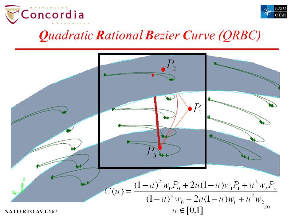 NATO RTO AVT-167 26 Quadratic Rational Bezier Curve (QRBC)