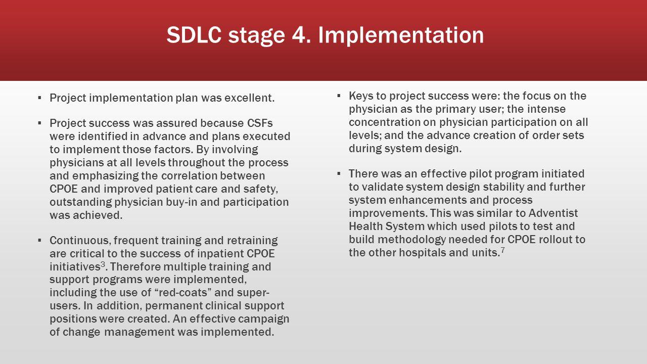 SDLC stage 3.