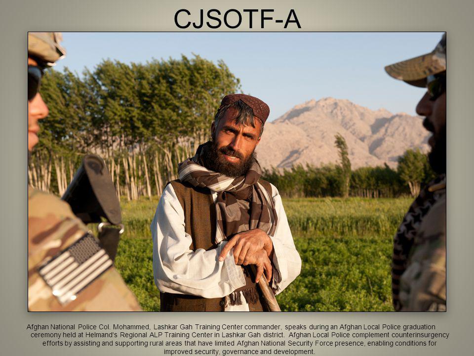CJSOTF-A Afghan National Police Col.