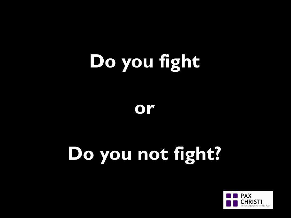 Do you fight or Do you not fight