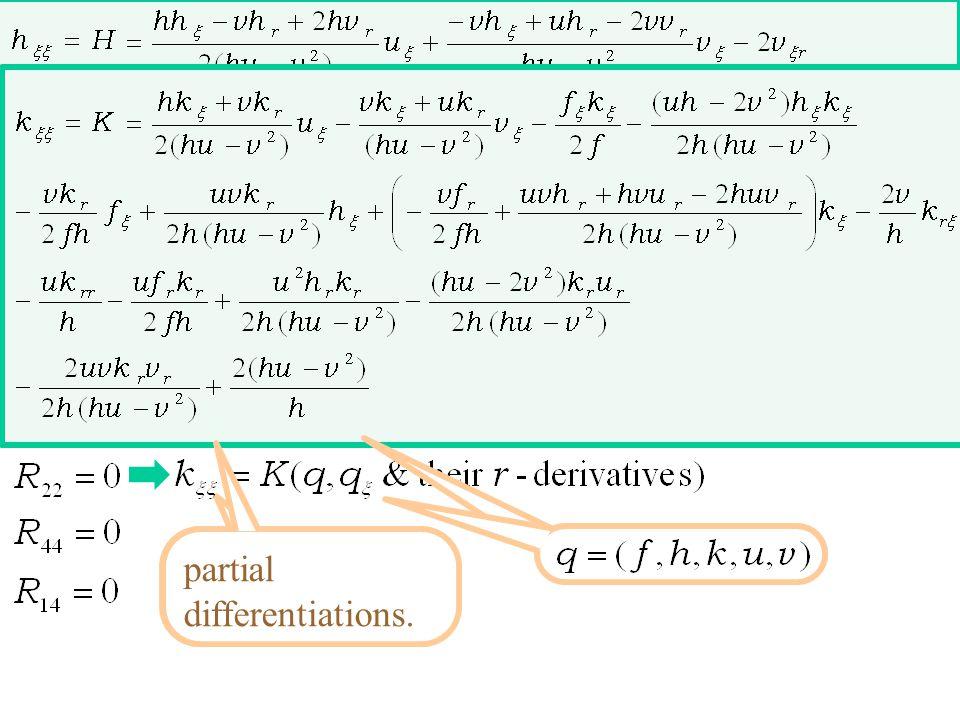 from the bulk Einstein eq. static, spherical, Schwarzschild anz. asymptotically flat, empty Nambu-Goto eq. bulk Einstein eq. × normal coordinate brane