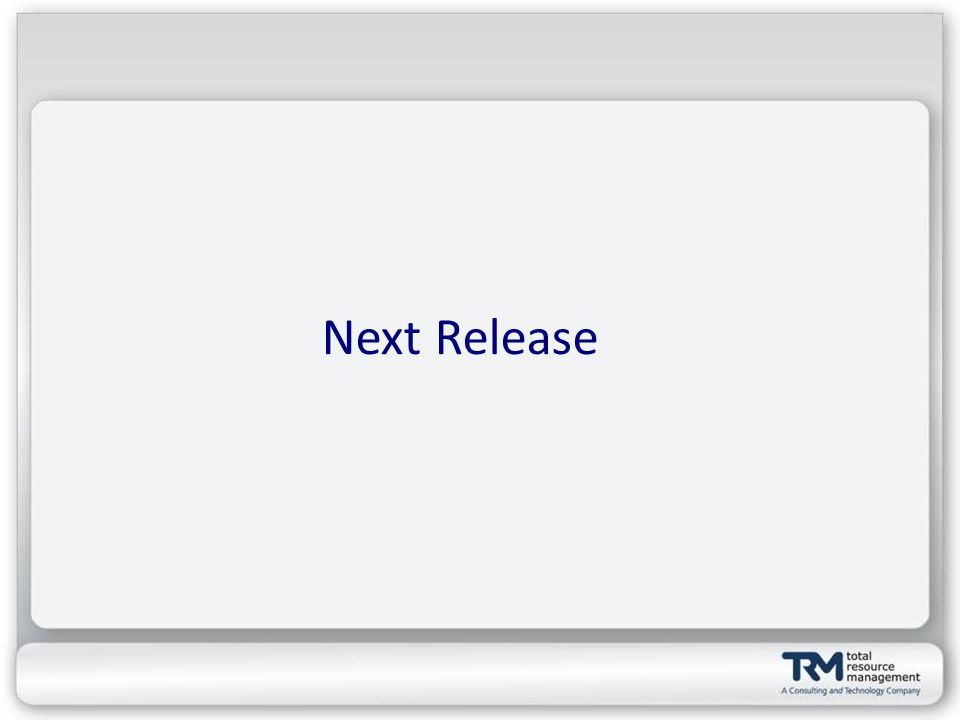 Next Release