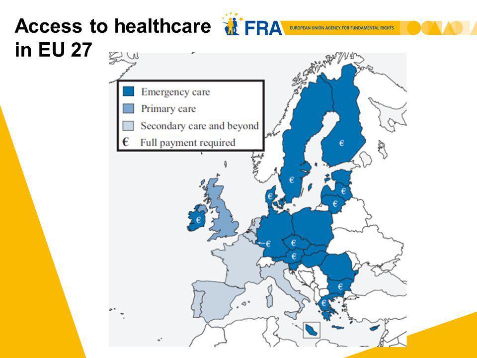 Access to healthcare in EU 27