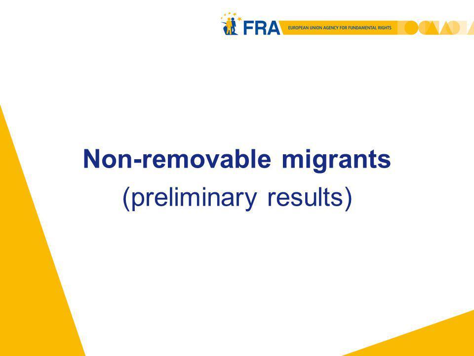 Non-removable migrants (preliminary results)