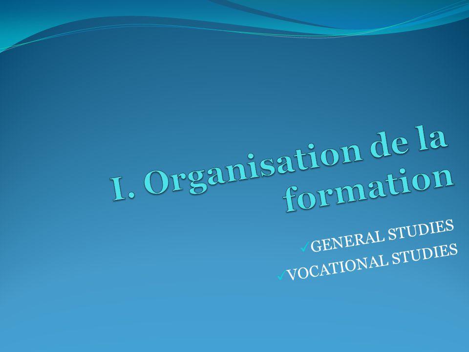 GENERAL STUDIES VOCATIONAL STUDIES