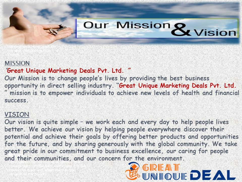 Great Unique Marketing Deals Pvt. Ltd.