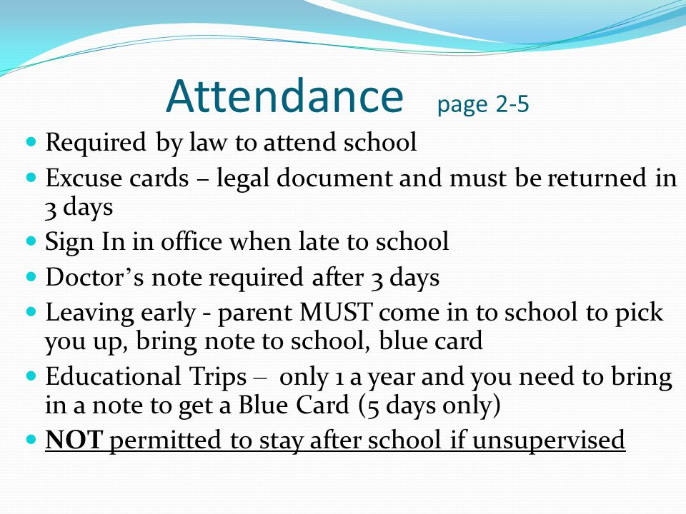 Lateness There is only 3 minutes between classes You must be prepared and in class on time Bring necessary materials to lunch for your Expressive Arts and/or PE class.