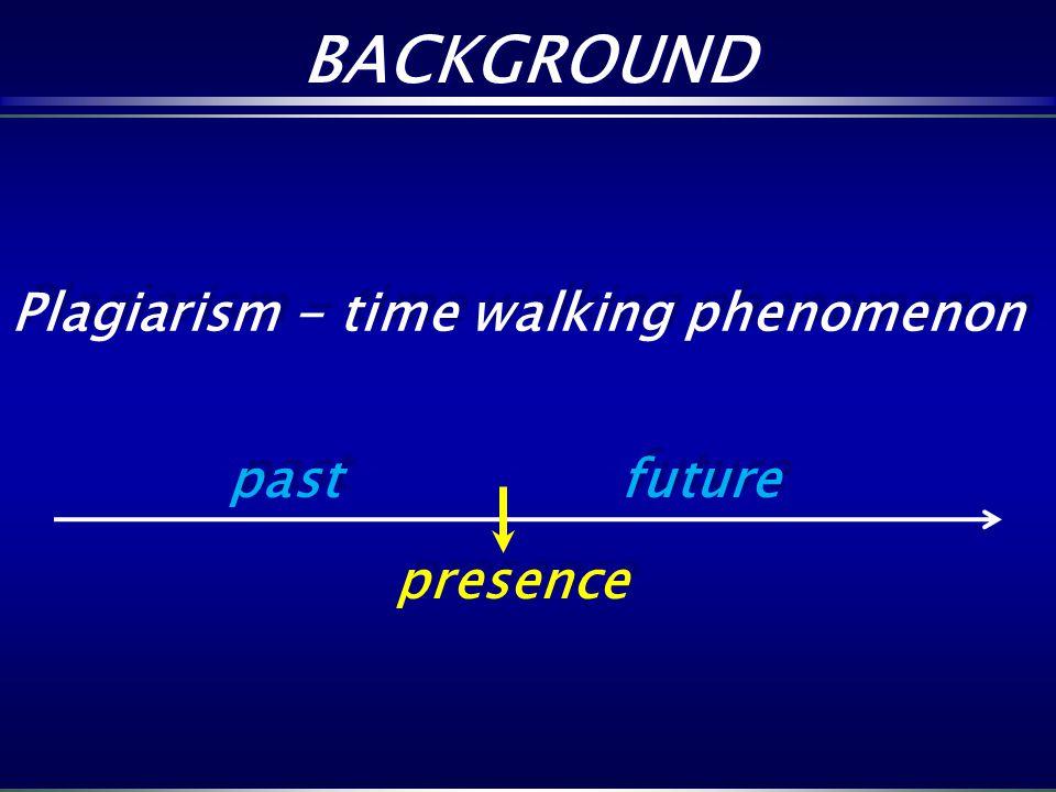 past future presence past future presence Plagiarism - time walking phenomenon BACKGROUND