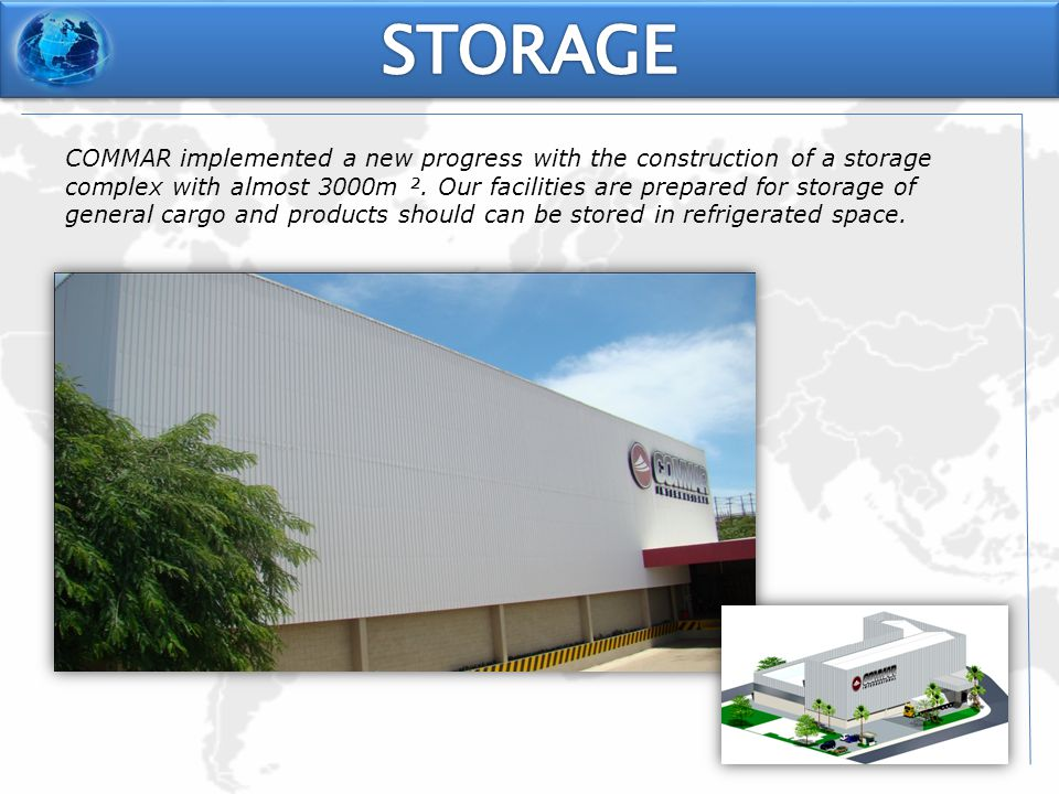 COMMAR implemented a new progress with the construction of a storage complex with almost 3000m ².
