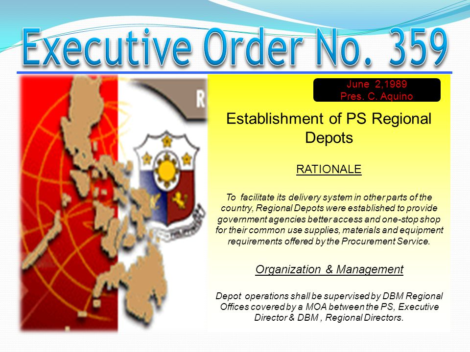 Establishment of PS Regional Depots RATIONALE To facilitate its delivery system in other parts of the country, Regional Depots were established to pro