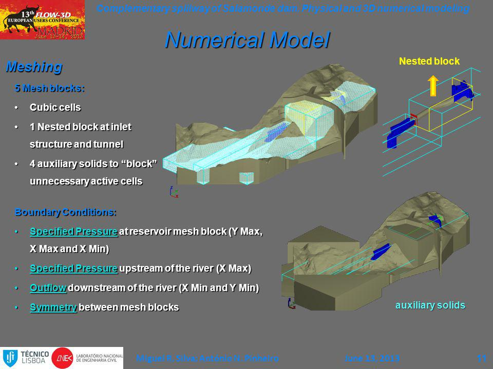 Complementary spillway of Salamonde dam.Physical and 3D numerical modeling Miguel R.