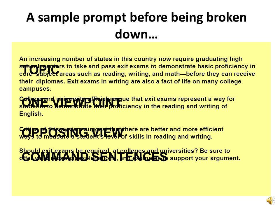 STEP #1STEP #2STEP #3STEP #4STEP #5 STEP #1: Analyze the Prompt STEP #2: Prewrite STEP #3: Craft a Strong Thesis STEP #4: Draft the Essay STEP #5: Che