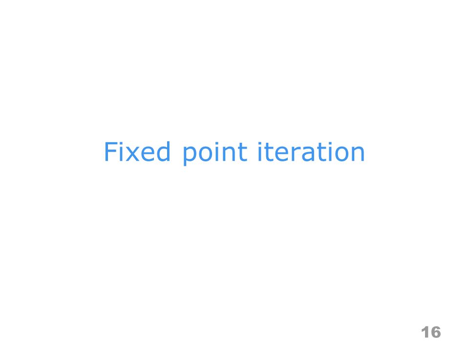 Fixed point iteration 16