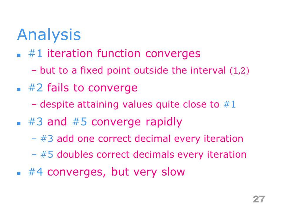 Analysis 27