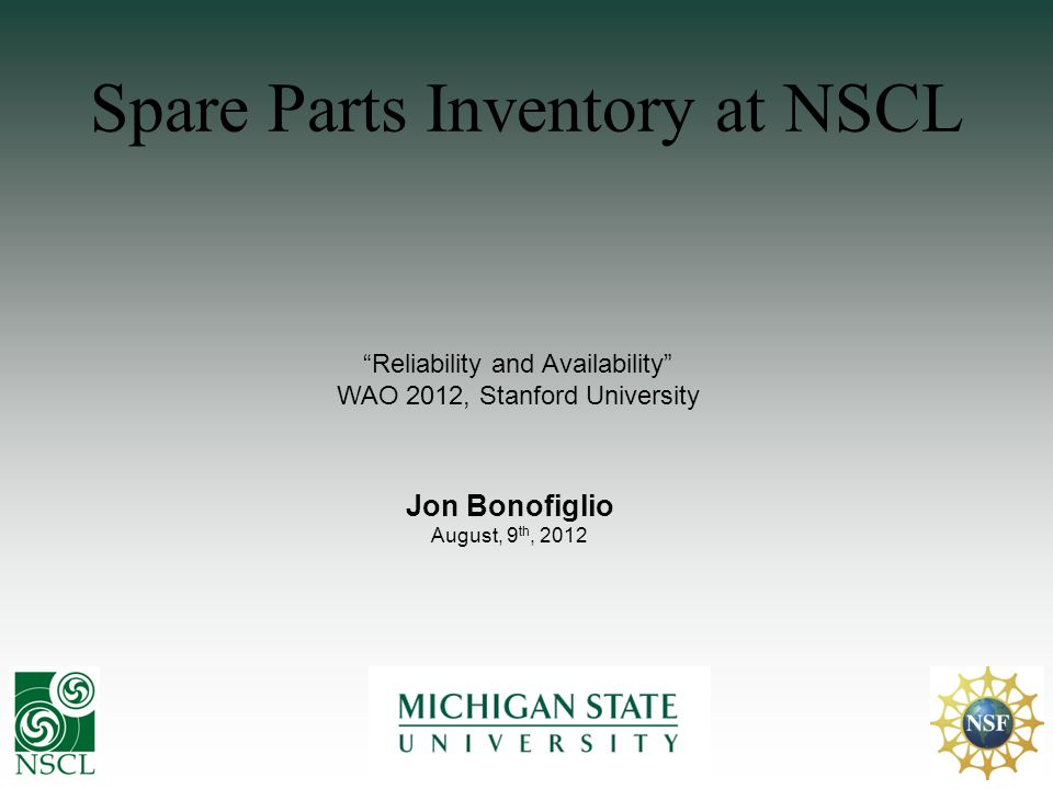 Outline Introduction to NSCL & MSU Hardware Overview Managing Inventory Questions Software Overview Wireless Scanner Why is an Inventory Management System Important Future Reports