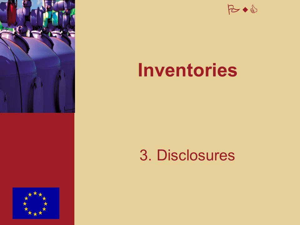 PwC Inventories 3. Disclosures