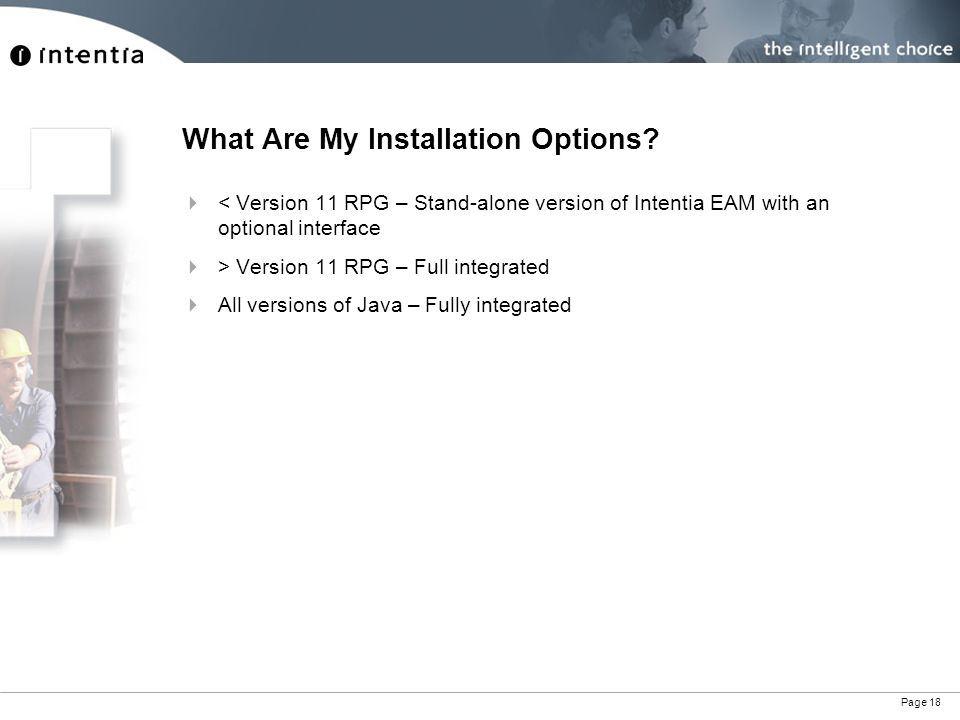 Page 18 What Are My Installation Options.
